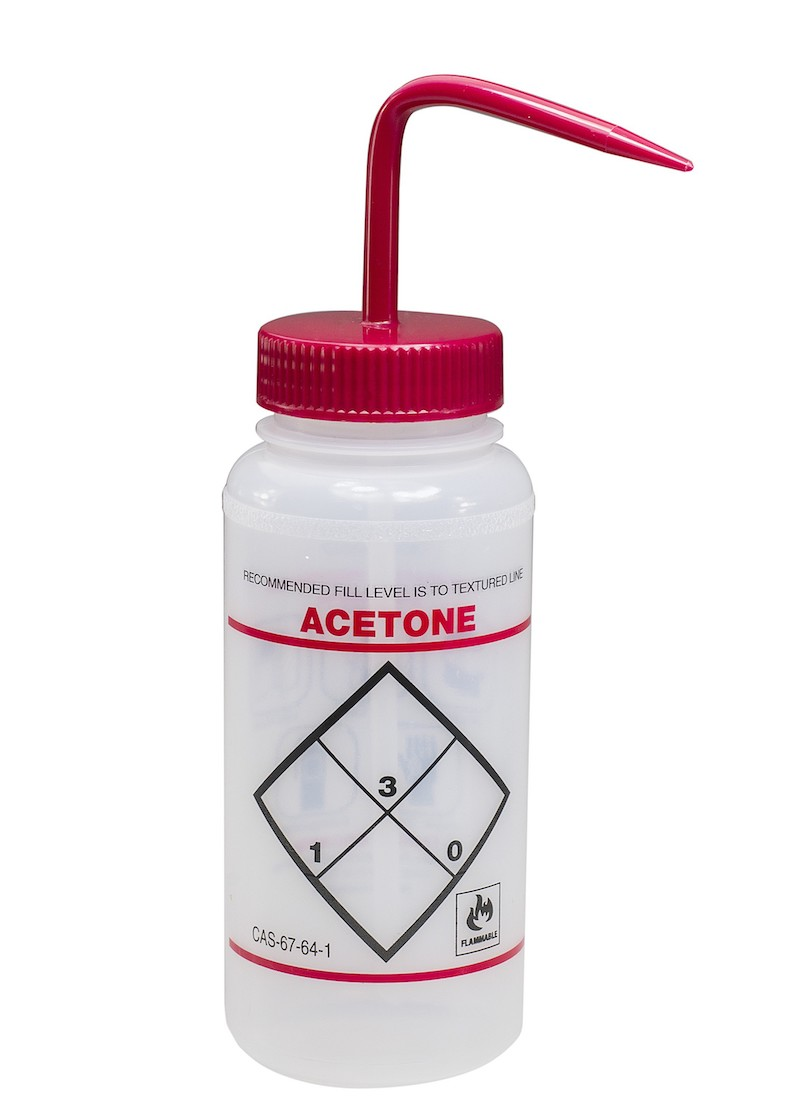 acetone wash bottle