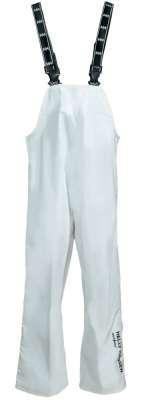 white rain pants